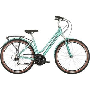 RALEIGH Pioneer Trail Low Step Frame Commuter Bike, TURQUOISE