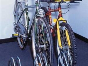 Mottez 3 Bike Floor Mount Storage Rack