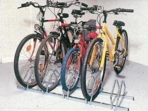 Mottez 5 Bike Floor Mount Storage Rack