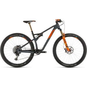"""Cube AMS 100 C:62 TM 29 Suspension Bike (2020) - 20"""" Grey - Orange"""