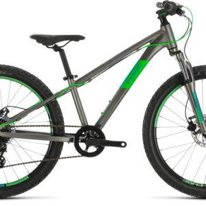 Cube Acid 240 Disc 2021 24in Wheel Kids Mountain Bike Grey/Neongreen
