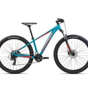 Orbea MX XS 27.5 Dirt Kids Mountain Bike 2021 Blue Bondi/Red Gloss