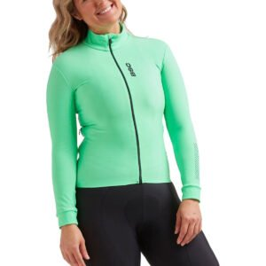 Black Sheep Cycling Women's Elements Thermal Jersey - M Green