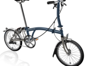 Brompton S3L Folding Bike 2021 Tempest Blue/Titanium
