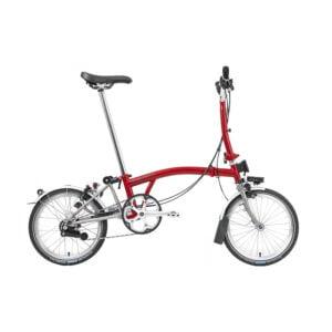 Brompton S6L Folding Bike 2021 House Red/Titanium