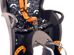 Hamax Kiss Rear Mounted Child Seat Grey/Orange Animal Print