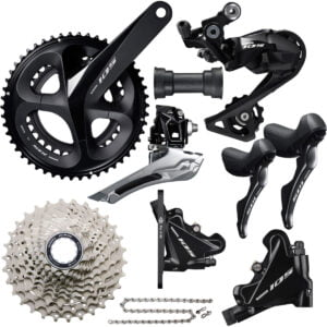 Shimano 105 R7020 Disc Groupset - 175mm 50.34 11-32 Black | Groupsets