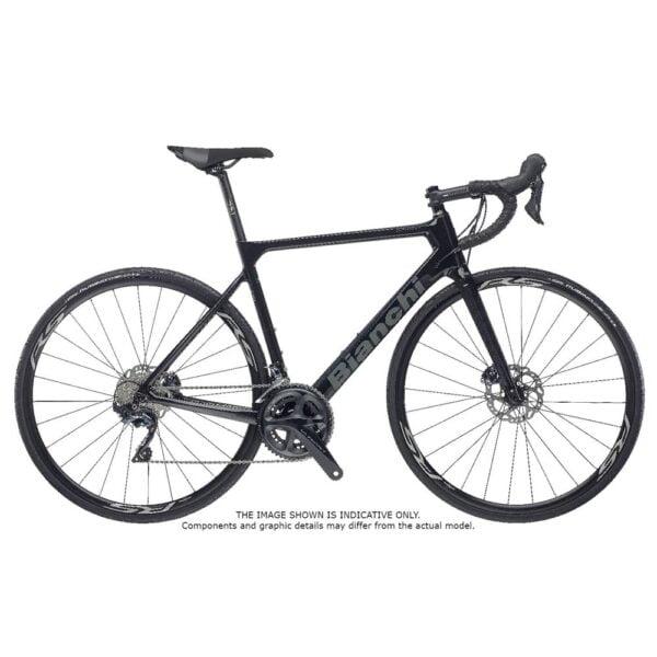 Bianchi Sprint Ultegra Disc 2022 Carbon Road Bike Black Graphite Gloss