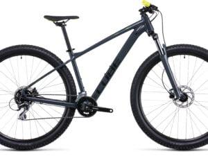 Cube Aim Pro Hardtail Mountain Bike 2022 Grey/Flash yellow