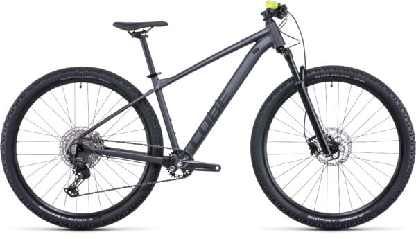 Cube Attention Sl Hardtail Mountain Bike 2022 Grey/Lime