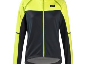 Gore Wear Women's Phantom Cycling Jacket - 36 Black/Neon Yellow