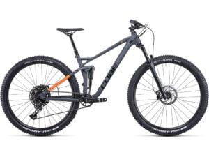 Cube Stereo 120 Pro Suspension Bike (2022) 2022 - Grey - Orange - L, Grey - Orange